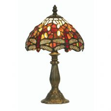 Dragonfly 1x60w Tiffany 7 Inch Table/Bedside  Lamp - OT 1485/7 TL